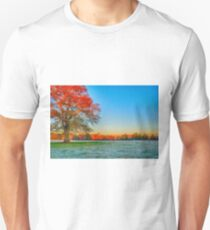 morning frost farmscape T-Shirt