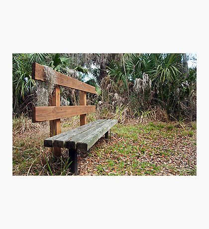 A Place to Rest Along the Trail Photographic Print
