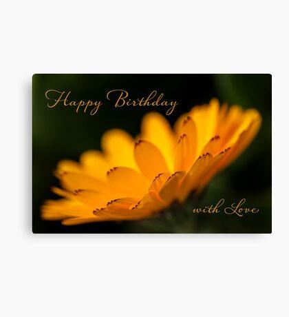Calendula aglow - birthday Canvas Print