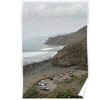 big sur coast carpark Poster