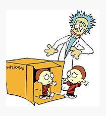 Rick and Morty Calvin and Hobbes mashup Photographic Print