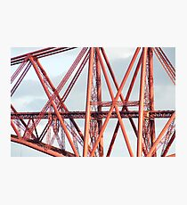 Detail of the cantilever Forth Rail Bridge Photographic Print