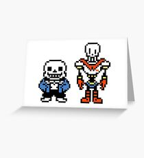 Undertale - Sans and Papyrus Greeting Card
