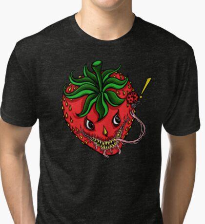Sinister Strawberry Tri-blend T-Shirt