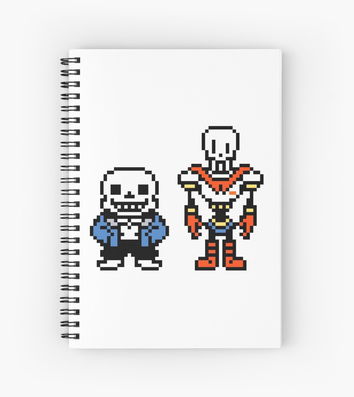 Quot Undertale Sans And Papyrus Quot Spiral Notebooks By
