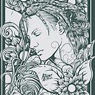 Girl Flowers by blastartstudio