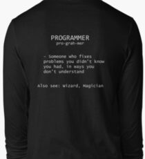 Programmer Definition Long Sleeve T-Shirt