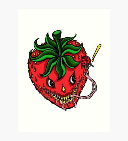 Sinister Strawberry Art Print