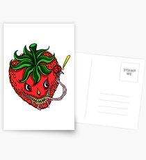 Sinister Strawberry Postcards