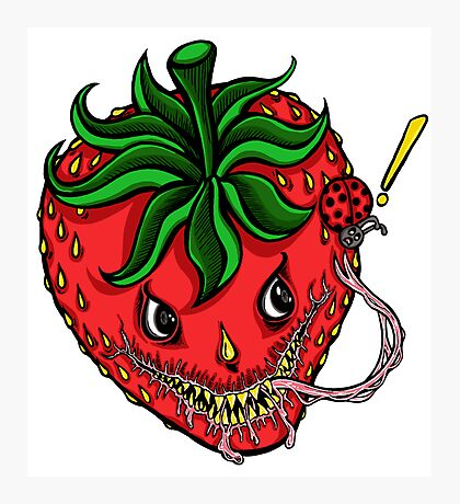 Sinister Strawberry Photographic Print