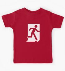 Emergency Exit Sign, with the Running Man Kids Tee