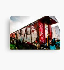 Graffiti train Canvas Print