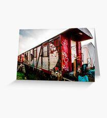 Graffiti train Greeting Card