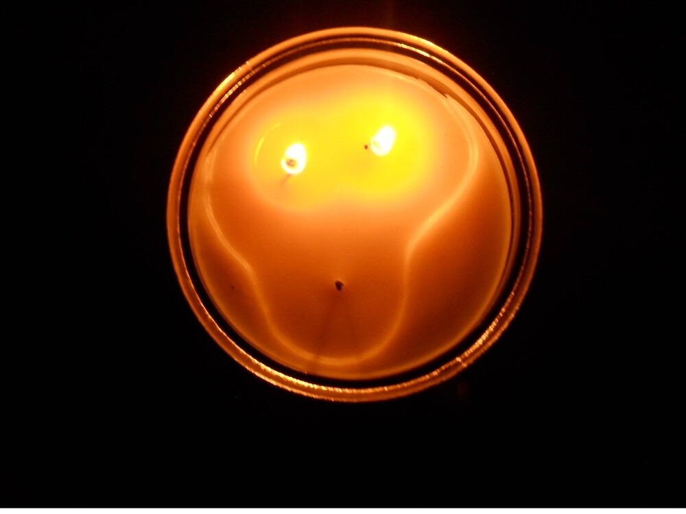 spooky alien candle by beckalbright
