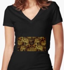 The Land of the Golden Lake Women's Fitted V-Neck T-Shirt