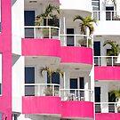 magenta balcony by richard  webb