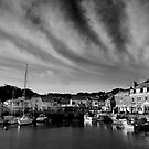 Padstow Skies in Black and White by Samantha Higgs