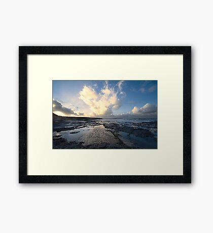 Heart of the Storm - Newtrain Bay - Cornwall Framed Print