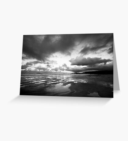 Harlyn Bay in Black and White Greeting Card