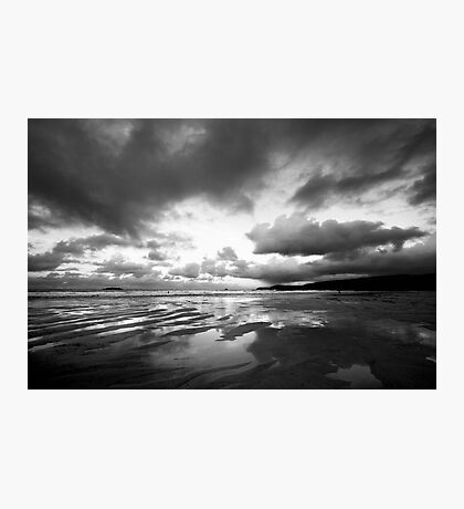 Harlyn Bay in Black and White Photographic Print
