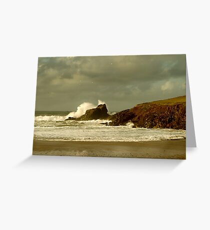 Surf Splash - Trevone Bay - Cornwall Greeting Card