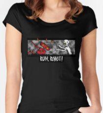 Run, Robot! Women's Fitted Scoop T-Shirt