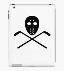 Crossed hockey sticks mask iPad Case/Skin