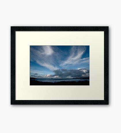 Blue Sea and Sky - Harlyn Bay, Cornwall Framed Print