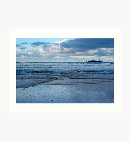 Evening at Harlyn Bay - Cornwall Art Print