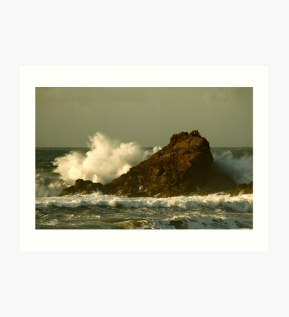 Power of the Wave -  Trevone Bay Art Print