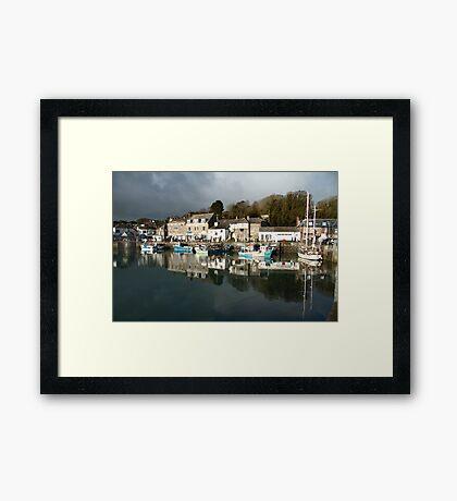 Dark Clouds - Padstow -Cornwall Framed Print