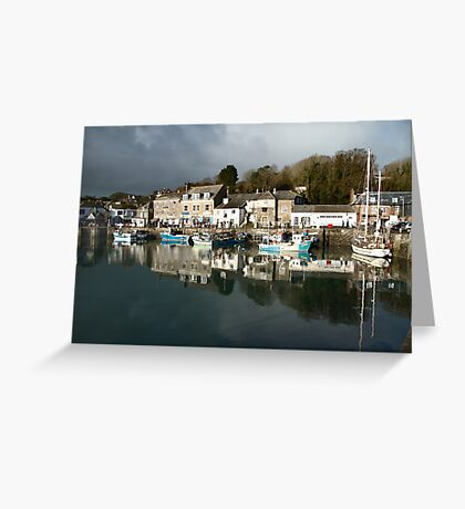 Dark Clouds - Padstow -Cornwall Greeting Card