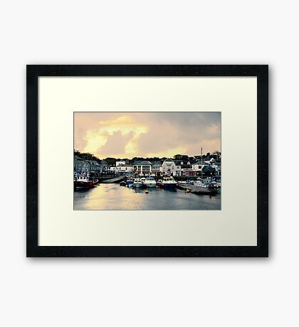 Sunset in Padstow Framed Print