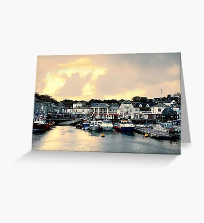 Sunset in Padstow Greeting Card