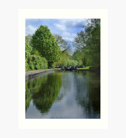 Greenham Lock - Newbury Art Print