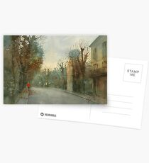 A little optimism in autumn evening Postcards
