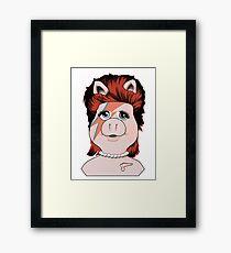 Piggy Stardust Framed Print