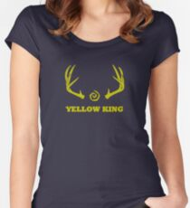 True Detective - Yellow King Antlers - Yellow Women's Fitted Scoop T-Shirt