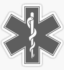 Ambulance Black and White Star of Life Sticker