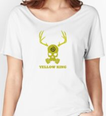 True Detective - Yellow King Gas Mask - Yellow Women's Relaxed Fit T-Shirt