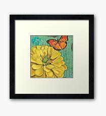 Verdigris Floral 2 Framed Print