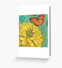 Verdigris Floral 2 Greeting Card