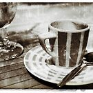 Coffee and beer at French café by Marlene Hielema