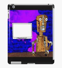 Robot journalist iPad Case/Skin