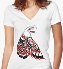 Eagle Human Women's Fitted V-Neck T-Shirt