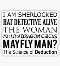 Sherlock- A Study in Typography Sticker