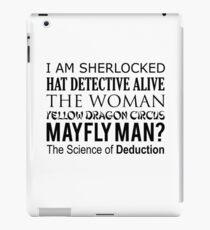 Sherlock- A Study in Typography iPad Case/Skin