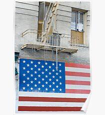 patriotic flag mural Poster