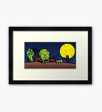 ZOMBIE GHETTO OFFICIAL ARTWORK DESIGN T-SHIRT Framed Print