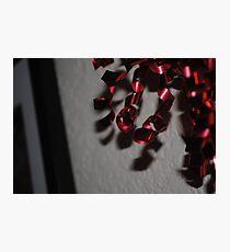 Red Ribbon Photographic Print